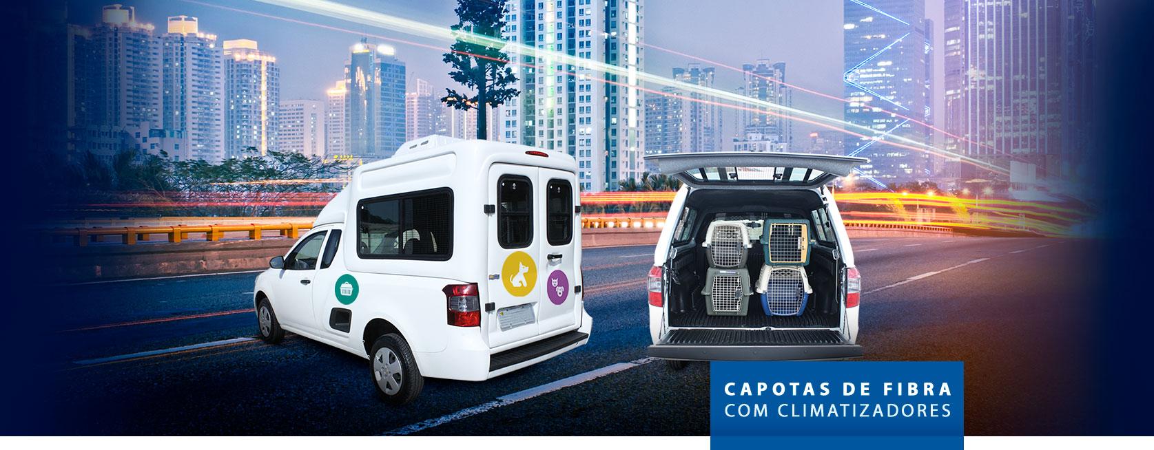 Capota de Fibra Refrigerada para Pet Shop - Fiat Strada