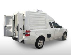 Furgão Climatizador – Capotas de Fibra Chevrolet Montana Capotas, Furgões e Tampões para Chevrolet Montana