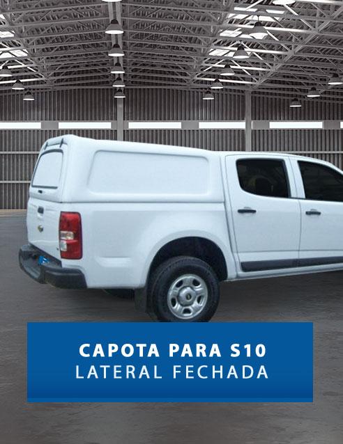 Lateral Fechadas - Capota de Fibra Chevrolet S10