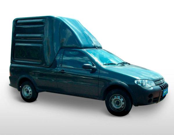 Furgão Especial – Capota de Fibra Fiat Strada Capotas para Picapes da Fiat