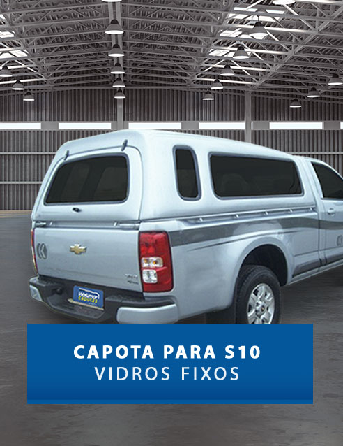 Vidros Fixos - Capota de Fibra Chevrolet S10