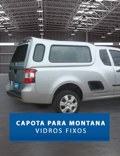 Vidros Fixos - Capota de Fibra Chevrolet Montana