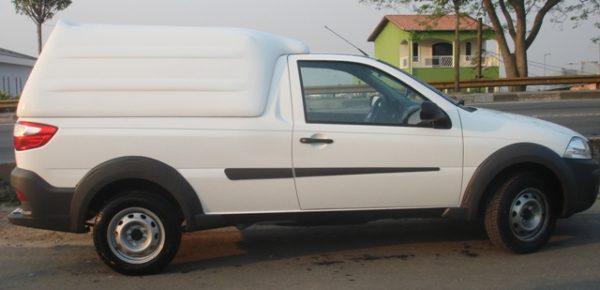 Laterais Fechadas – Capota de Fibra Fiat Strada Cabine Simples