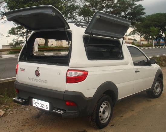 Portas Laterais – Capota de Fibra Fiat Strada Cabine Simples
