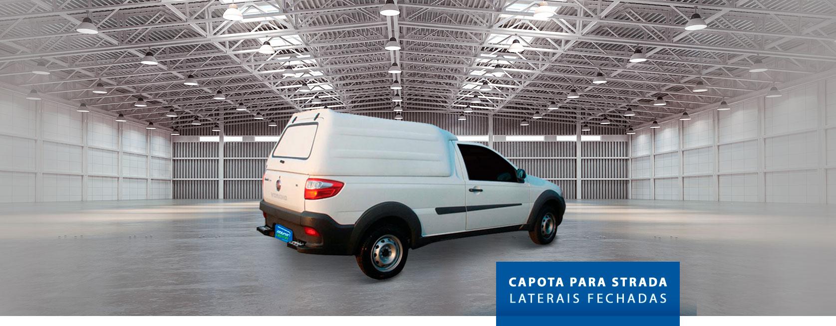 Laterais Fechadas - Capota de Fibra Fiat Strada