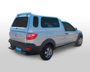 Vidros Fixos – Capota de Fibra Fiat Strada Cabine Simples