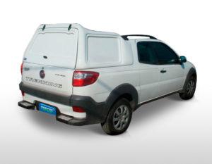 Lateral Fechada – Capota de Fibra Fiat Strada Capotas para Picapes da Fiat