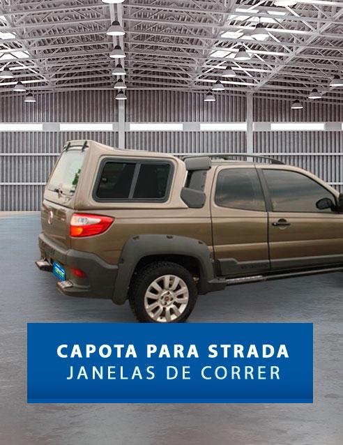 Janelas de Correr - Capota de Fibra Fiat Strada