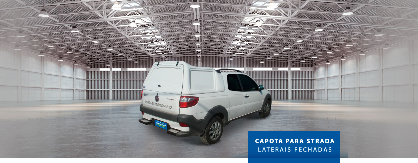 Lateral Fechada - Capota de Fibra Fiat Strada