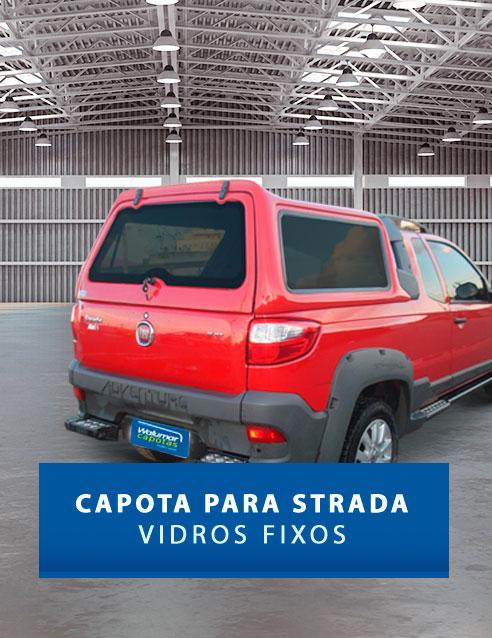 Vidros Fixos - Capota de Fibra Fiat Strada