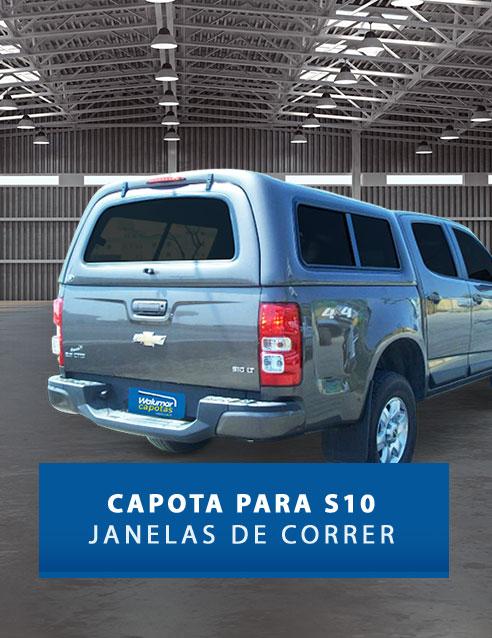 Janelas de Correr - Capota de Fibra Chevrolet S10