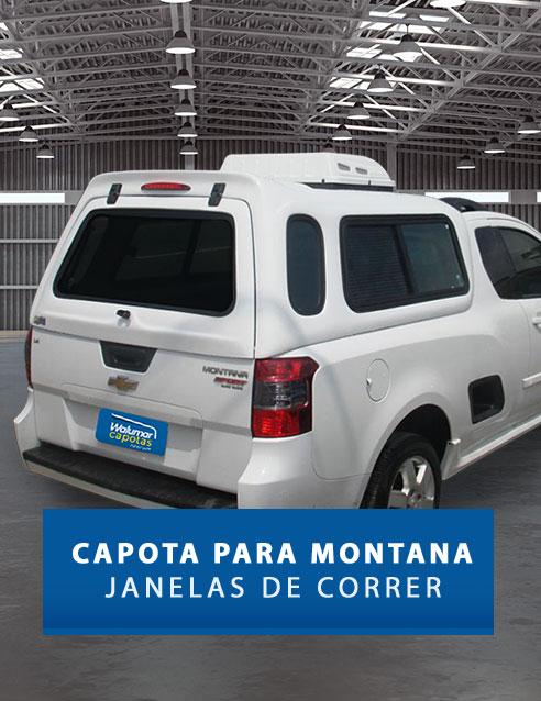 Janelas de Correr - Capota de Fibra Chevrolet Montana
