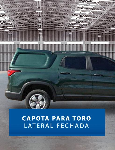 Lateral Fechada - Capota de Fibra Fiat Toro