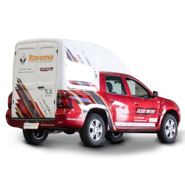 Folha Dupla Capota de Fibra para Renault Oroch Capotas, Furgões e Tampões para Renault Oroch