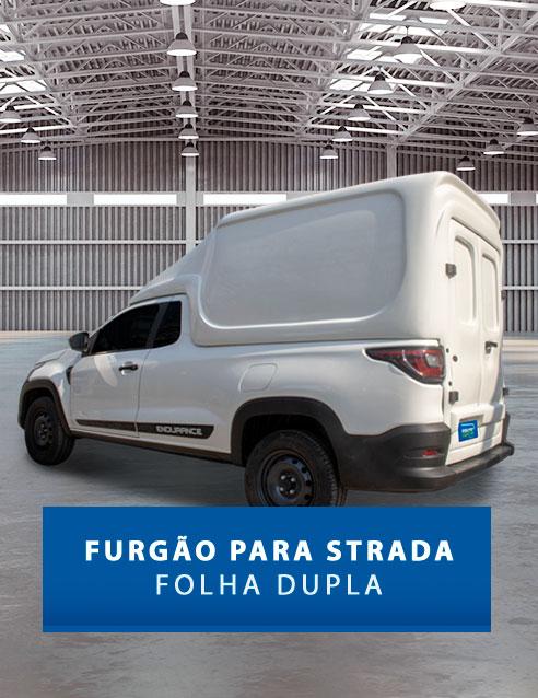Furgão Folha Dupla - Capota de Fibra Fiat Strada 2020/21