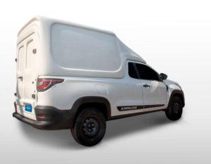 Furgão Folha Dupla – Capota de Fibra Fiat Strada 2020/21 Cabine Simples