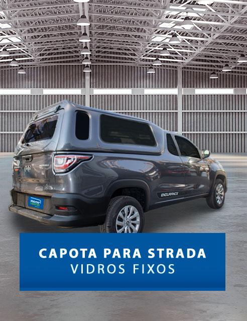 Vidros Fixos - Capota de Fibra Fiat Strada 2020/21