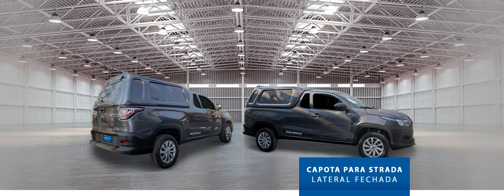 Lateral Fechada - Capota de Fibra Fiat Strada 2020/21