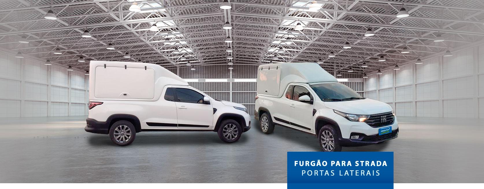 Furgão Portas Laterais - Capota de Fibra Fiat Strada 2020/21