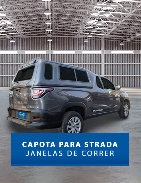 Janelas de Correr - Capota de Fibra Fiat Strada 2020/21