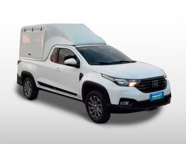 Furgão Portas Laterais – Capota de Fibra Fiat Strada 2020/21 Cabine Simples
