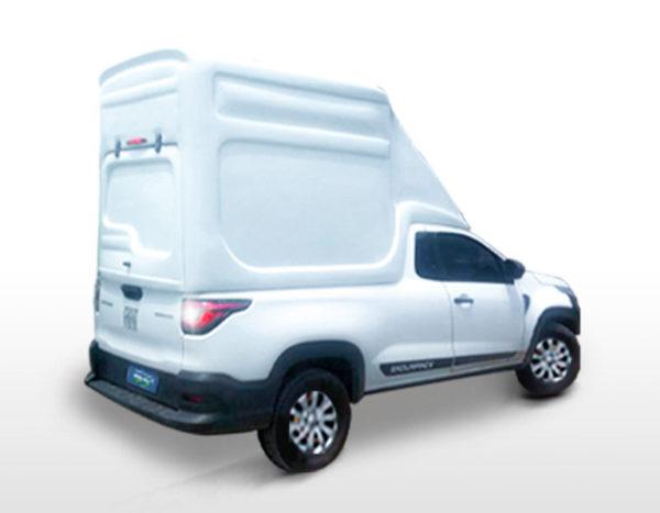 Furgão Especial – Capota de Fibra Fiat Strada 2020/21 Cabine Dupla - Freedom / Endurance