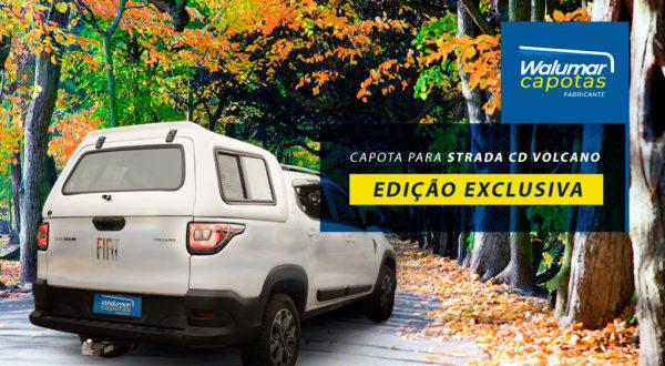 Janelas de Correr com Tela de Proteção – Capota de Fibra Fiat Strada 2020/21 Cabine Dupla