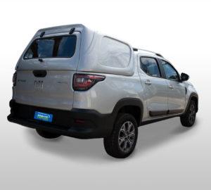 Lateral Fechada – Capota de Fibra Fiat Strada Cabine Dupla