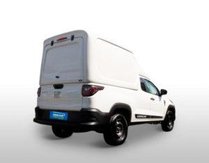 Furgão Meia Tampa – Capota de Fibra Fiat Strada 2020/21 Cabine Dupla - Freedom / Endurance