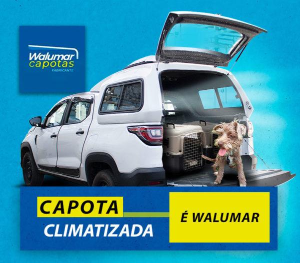 Capota Climatizada com Janelas de Correr – Capota de Fibra Fiat Strada 2020/21 Cabine Dupla - Freedom / Endurance