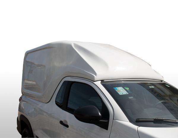 Furgão Meia Tampa – Capota de Fibra Fiat Strada 2020/21 Cabine Estendida